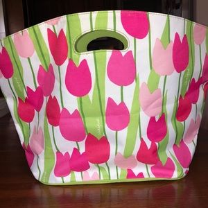 NEW Clinique tulip tote bag